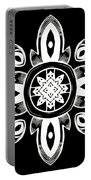Coffee Flowers 8 Bw Ornate Medallion Portable Battery Charger