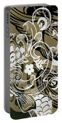 Coffee Flowers 8 Olive Portable Battery Charger