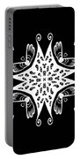 Coffee Flowers 9 Bw Ornate Medallion Portable Battery Charger