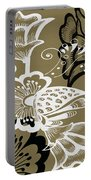 Coffee Flowers 9 Olive Portable Battery Charger