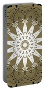 Coffee Flowers 9 Olive Ornate Medallion Portable Battery Charger