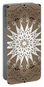 Coffee Flowers 9 Ornate Medallion Portable Battery Charger
