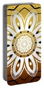 Coffee Flowers Medallion Calypso Triptych 2  Portable Battery Charger