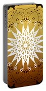 Coffee Flowers Medallion Calypso Triptych 3  Portable Battery Charger