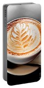 Coffee Latte With Foam Art Portable Battery Charger