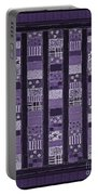 Coin Quilt -quilt Painting - Purple Patches Portable Battery Charger