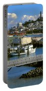 Coit Tower And Marina - San Francisco Portable Battery Charger