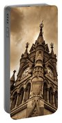 Colck Tower Stratford On Avon Sepia Portable Battery Charger