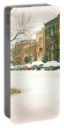 Cold Day In Montreal Pointe St Charles Art Winter Cityscene Painting After Big Snowfall Psc Cspandau Portable Battery Charger