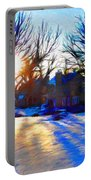 Cold Morning Sun Portable Battery Charger by Jeff Kolker