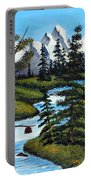 Cold Rattling Brook  Portable Battery Charger by Barbara Griffin