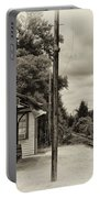 Cold Spring Train Station In Sepia Portable Battery Charger