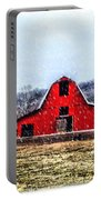 Cold Winter Day At The Farm Portable Battery Charger