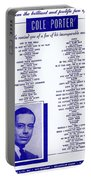 Cole Porter Portable Battery Charger
