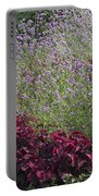 Coleus And Lavender Portable Battery Charger