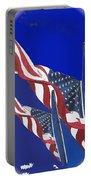 Collage Half Mast Flag Honoring President Ronald Reagan Number 2 Casa Grande Az  2004-2013 Vignetted Portable Battery Charger
