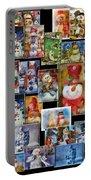 Collage Snowman Horz Photo Art Portable Battery Charger