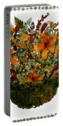 Collage With Wild Flowers Portable Battery Charger