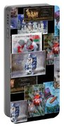 Collage Xmas Cards Horz Photo Art Portable Battery Charger