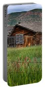 Collapsed Log House In Utah Portable Battery Charger