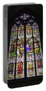Cologne Cathedral Stained Glass Window Of Pentecost Portable Battery Charger