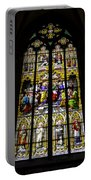 Cologne Cathedral Stained Glass Window Of St Peter Portable Battery Charger