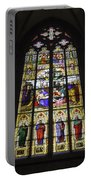 Cologne Cathedral Stained Glass Window Of The Lamentation Portable Battery Charger