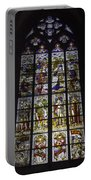 Cologne Cathedral Stained Glass Window Of The Nativity Portable Battery Charger