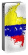 Colombia Painted Flag Map Portable Battery Charger