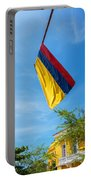 Colombian Flag And Blue Sky Portable Battery Charger
