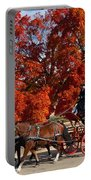 Carriage In Autumn Portable Battery Charger