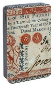 Colonial Currency, 1776 Portable Battery Charger