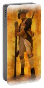 Colonial Soldier Photo Art  Portable Battery Charger
