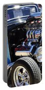 Color Chrome 1932 Black Ford Coupe Portable Battery Charger
