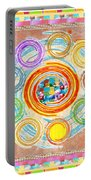 Color Circles Crystal Stones Borders Chakra Energy Healing Portable Battery Charger