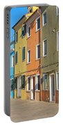 Color Houses In Row Portable Battery Charger