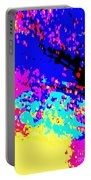Color Of Rain Abstract Portable Battery Charger