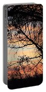 Color Through The Trees Portable Battery Charger