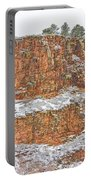Colorado Red Sandstone Country Dusted With Snow Portable Battery Charger
