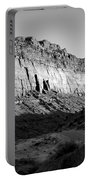 Colorado River Cliff Bw Portable Battery Charger