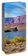 Colorado River Upstream From Boat Ramp At Lee's Ferry In Glen Canyon National Recreation Area-az Portable Battery Charger