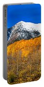 Colorado Rocky Mountain Independence Pass Autumn Panorama Portable Battery Charger