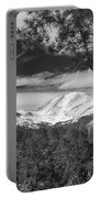 Colorado Rocky Mountain View Black And White Portable Battery Charger