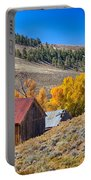 Colorado Rustic Rural Barn With Autumn Colors  Portable Battery Charger