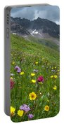 Colorado Wildflowers And Mountains Portable Battery Charger by Cascade Colors