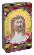 Colored Background Jesus Portable Battery Charger