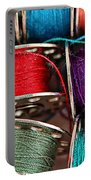 Colored Bobbins - Seamstress - Quilter Portable Battery Charger