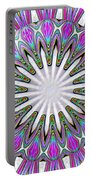 Colored Foil Lily Kaleidoscope Under Glass Portable Battery Charger