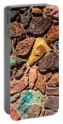 Colored Stone Rock Church Wall - Cedar City - Utah Portable Battery Charger