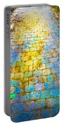 Colored Stones And Lichen Covered Bridge Portable Battery Charger